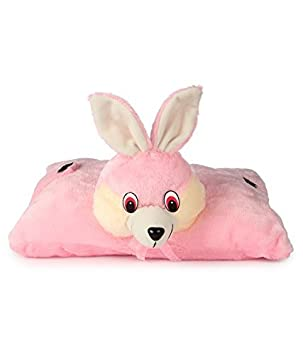 Vpra Mart Stuffed Soft Pink Rabbit Pillow Cum Cushion Toy Pillow