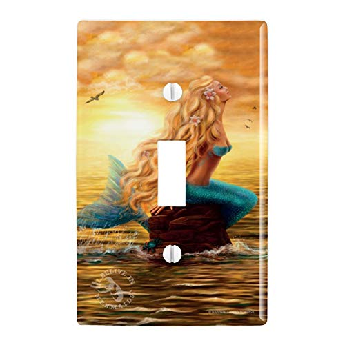 GRAPHICS & MORE I Believe in Mermaids Tropical Beach Ocean Plastic Wall Decor Toggle Light Switch Plate Cover]()