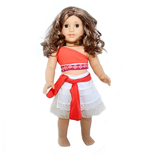 Princess Moana Inspired 4 Piece Doll Set for American Girl Dolls