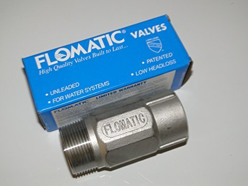 STAINLESS STEEL 1 1/4(1.25) x 1 CHECK VALVE for WATER WELL PUMP Pressure TANK FLOMATIC 4221LSS2 by Flomatic
