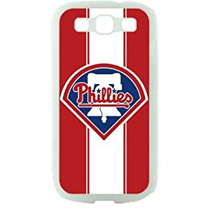 MLB Major League Baseball Philadelphia Phillies Samsung Galaxy S3 SIII I9300 TPU Soft Black or White case (White)