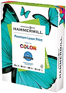 product image for Hammermill Printer Paper, Premium Laser Print 32 lb, 8.5 x 11-1 Ream (500 Sheets) - 98 Bright, Made in the USA