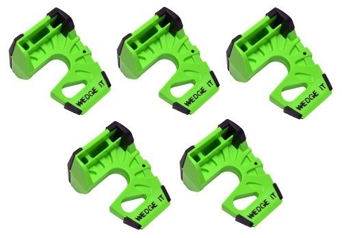 Wedge-It - The Ultimate Door Stop - Lime Green (5 PACK) by Wedge-It