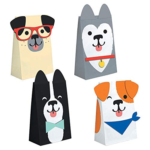 Fun Express Dog Party Treat Bags | 8 Count | Great for Dog Themed Event, Birthday Party, Holiday Celebration, Special Occasion