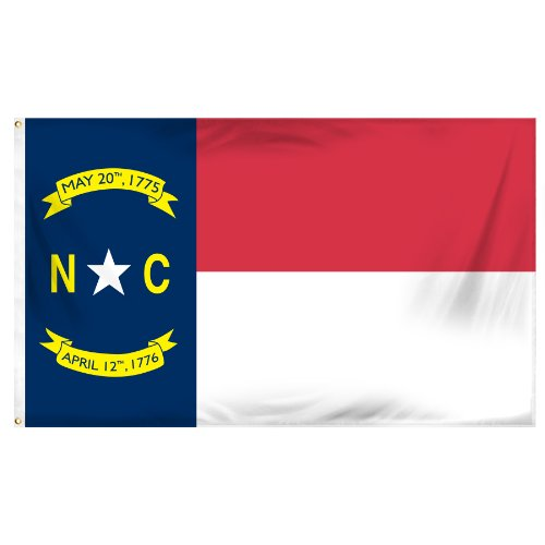 Online Stores North Carolina Printed Polyester Flag, 3 by - North Shore Stores