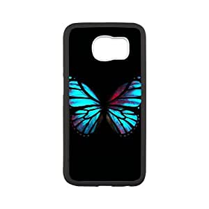 Samsung Galaxy S6 Cell Phone Case White Blue Red Butterfly Eckng