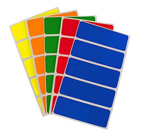ChromaLabel 1 x 3 Inch Color-Code Labels | 150 Stickers/Pack (Assorted Standard)]()