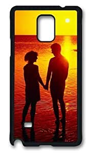 Adorable Couple Silhouette On The Beach Hard Case Protective Shell Cell Phone Samsung Galaxy Note4 Kimberly Kurzendoerfer