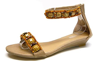 Schuh City Perlen Damen Schuhe Indianer Sandale Sommer