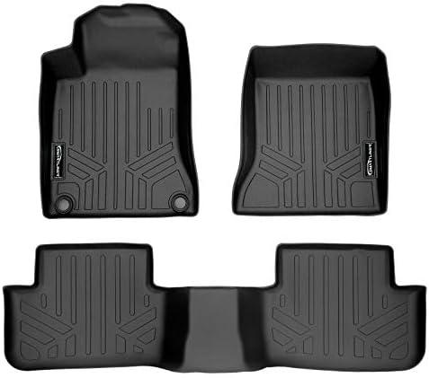 MAXLINER Floor Mats 2 Row Liner Set Black for 2014-2019 Mercedes Benz CLA / 2015-2020 GLA