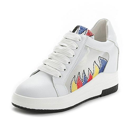 Calzado deportivo calzado nueve aumentó y coreano Treinta durante suelas casual ejercicioBlancoTreinta cuatro GTVERNH gruesas y el Sqdw5Fq