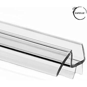 Eatelle Frameless Ultra Clear Shower Door Bottom Seal with Drip Rail - 3/8