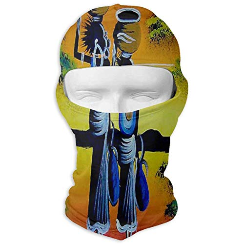 LoveBea Balaclava African Tribal Paintings Full Face Masks Ski Mask Motorcycle Hood for Cycling Sports Hiking