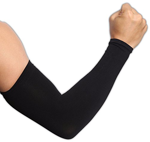 Tough Outdoors UV Protection Cooling Arm Sleeves, UPF 50 Long Sun Sleeves for Men and Women -