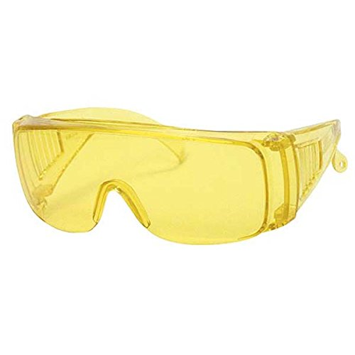 (Ironwear Addison 3800 Series Nylon Protective Safety Glasses, Yellow Lens, Yellow Frame (3800-Y))