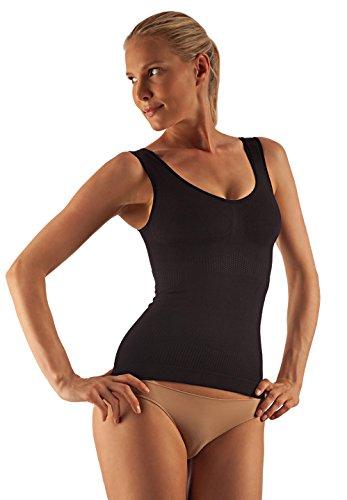 FarmaCell 342 Camiseta moldeadora, masajeadora, contenitiva y con efecto push-up Negro