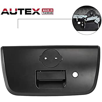 Textured Black for NISSAN FRONTIER 05-12 TAILGATE HANDLE Outside w// Keyhole