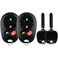 KeylessOption Keyless Entry Remote Control Fob Uncut Car Key For GQ43VT20T (Pack of 2)