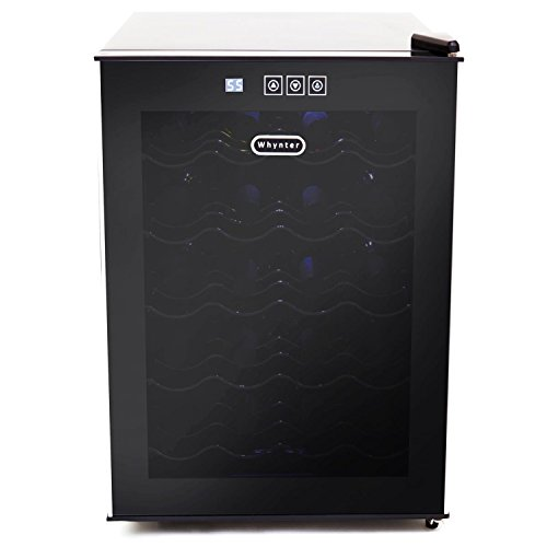 - Whynter 20 Bottle Thermoelectric Wine Cooler with Black Tinted Mirror Glass Door