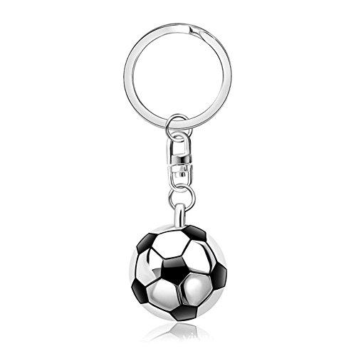 MagicW Metal Football Keyrings Sport Ball and Racket Keychain Birthday Christmas Gift