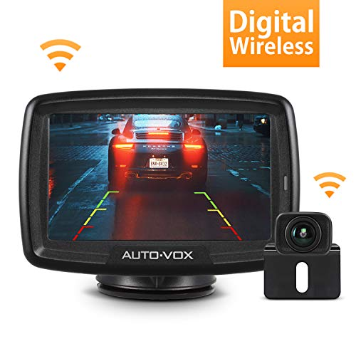 AUTO-VOX CS-2 Wireless Backup Camera Kit with Stable Digital Signal, 4.3'' Monitor & Rear View Camera for Truck, Van, Camping Car, SUV AUTO-VOX