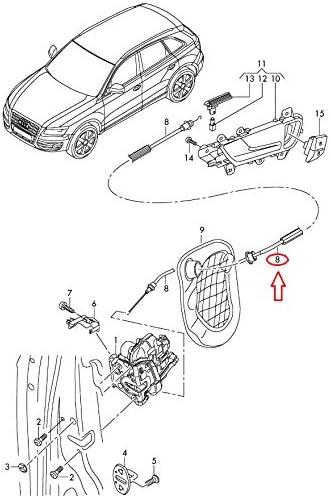 GTV INVESTMENT Q5 8R Serratura porta anteriore con cavo Bowden sinistro 8R0837085C