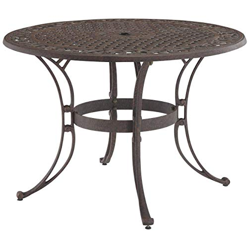 Biscayne Bronze Round 48-Inch Outdoor Dining Table by Home Styles ()