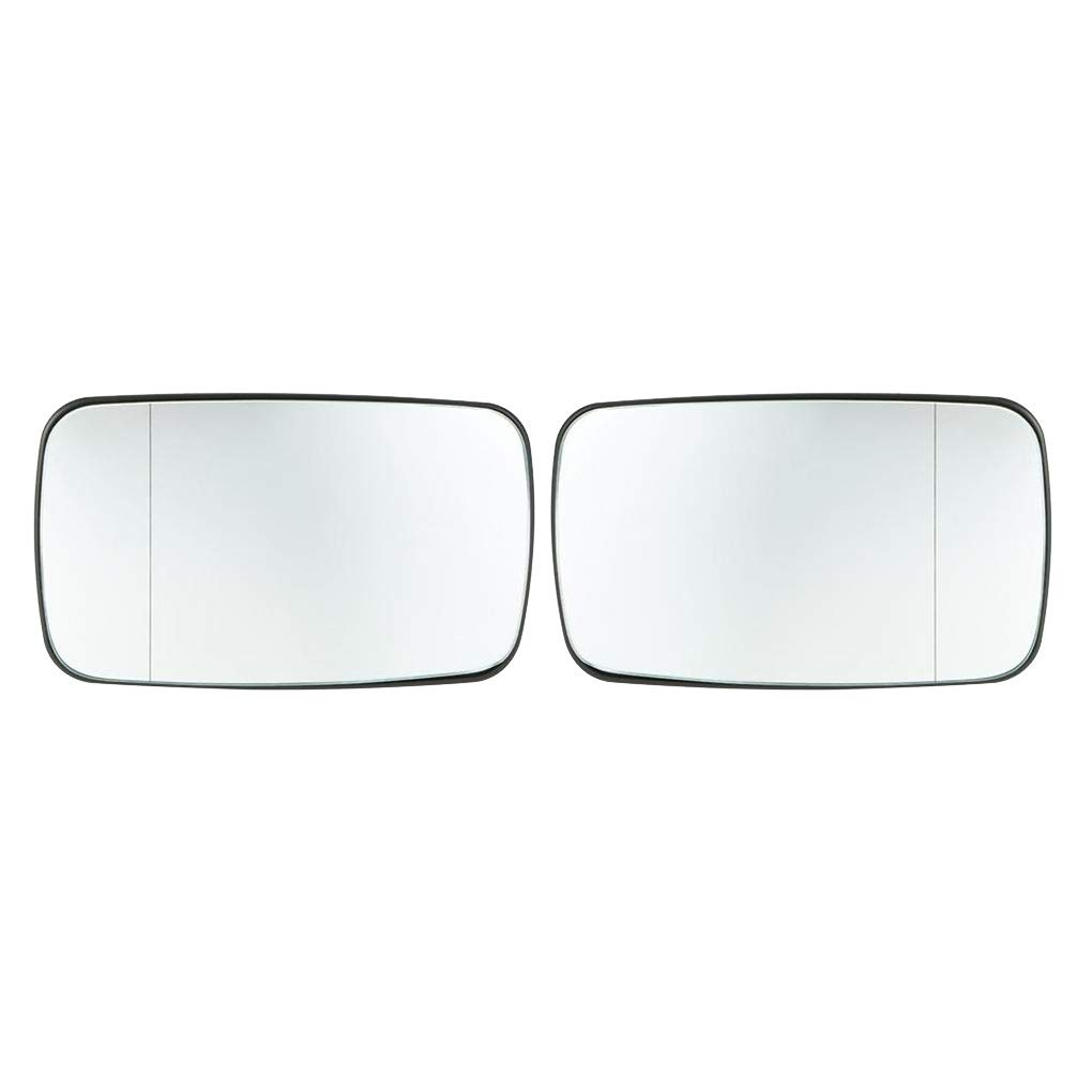 Topker 1 Pair 51168250438 Right Left Side Heated Rearview Mirror Glass White Automobiles Replacement for E46