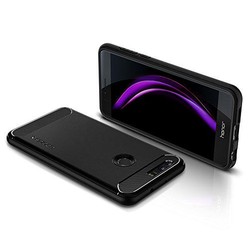 Spigen Rugged Armor Honor 8 Case with Resilient Shock Absorption for Huawei Honor 8 2016 - Black by Spigen (Image #3)