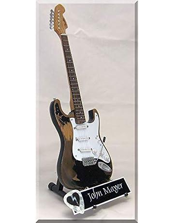John Mayer Monster Relic - Guitarra en miniatura con púa para guitarra