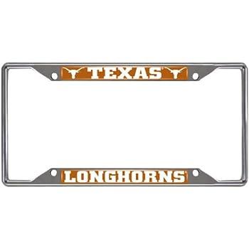 FANMATS  14826  NCAA University of Texas Longhorns Chrome License Plate Frame
