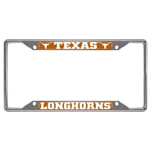 FANMATS  14826  NCAA University of Texas Longhorns Chrome License Plate Frame University License Plate Frame