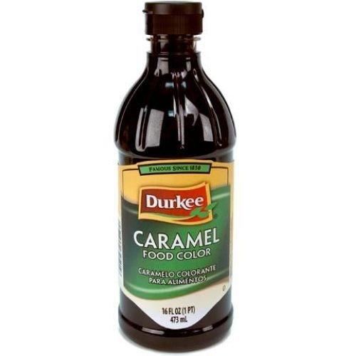 Durkee Caramel Food Color, 6 Bottle Per Cases, 16 Ounces Per Bottle.