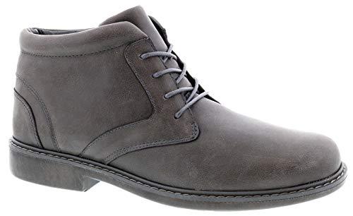 (Drew Men Bronx 40100 Grey/Leather/Chukka Leather 15 Wide (2E) US )