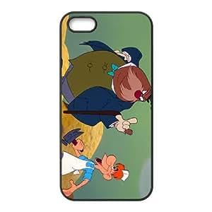iPhone 5,5S Phone Case Black Alice in Wonderland The Carpenter YU9393155
