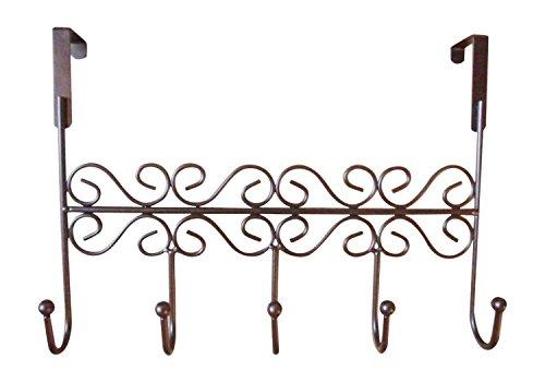 Youdepot Over the Door 5 Hanger Rack - Decorative Metal Hanger Holder for Home Office (Standard Coat Rack)