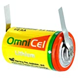 OmniCel ER14250HD 3.6V Size 1/2AA Lithium Battery with Tabs