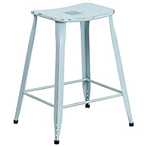 Amazon Com Flash Furniture 23 75 High Distressed Green