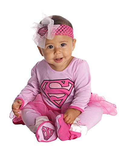 Rubie's Costume DC Comics Supergirl Onesie And Headpiece, Pink, 6-12 Months ()