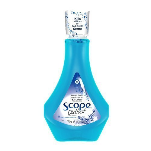 Scope Outlast Mouthwash Long Lasting Peppermint 750 Ml (Pack of 6)
