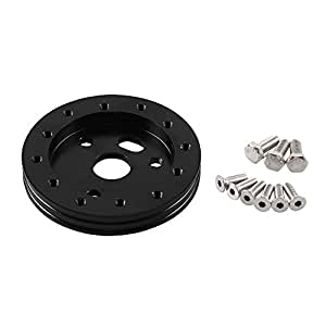 "Ruien 0.5"" Hub for 6 Hole Steering Wheel to Fit Grant APC 3 Hole Adapter Boss Kit Black"