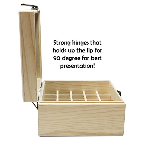 SXC 25 Slot Wooden Essential Oil Box/case, holds 25 5-5ml&10ml Roller Bottles, Perfect Essential Oil Storage/organizer Case For Travel and Presentation by SXC (Image #4)