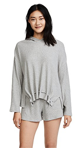 Skin Women's Ingrid Hoodie, Heather Grey, 4 by Skin Industries