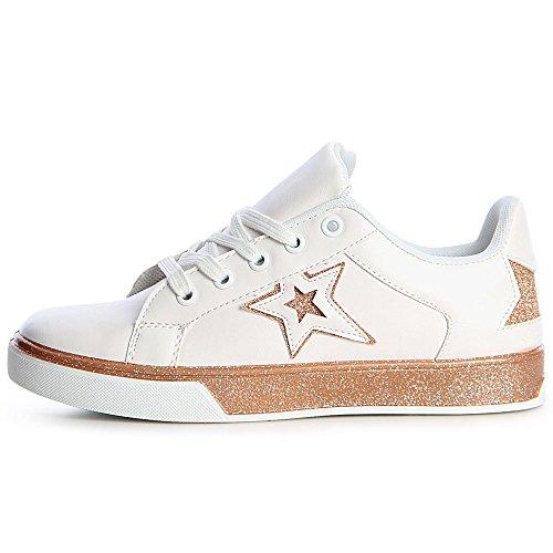 Topschuhe24 Donna Sneaker Rose Oro Sneaker Topschuhe24 Oro Oro Donna Donna Rose Rose Topschuhe24 Sneaker nzPEUw1xxF