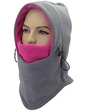 ZZLAY Double Layers Thicken Winter Versatile Neck Warm Fleece Ski Face Mask Balaclavas Hat