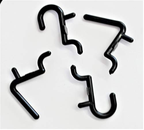 Wall Peg Hook Kit, 100-Pack, Black