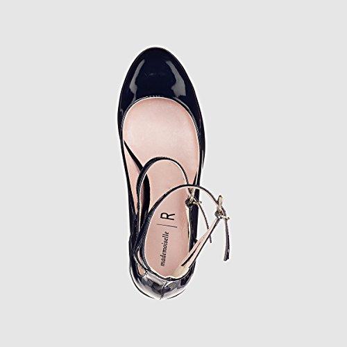 Collections Doppio La Donna Blu Vernice Ballerine Redoute Cinturino PF1qw1a5nx