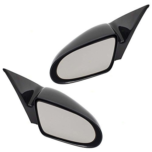 (Pair Set Manual Side View Mirrors Ready-to-Paint Replacement for Chevrolet Geo Suzuki 30015430 30014013 AutoAndArt )