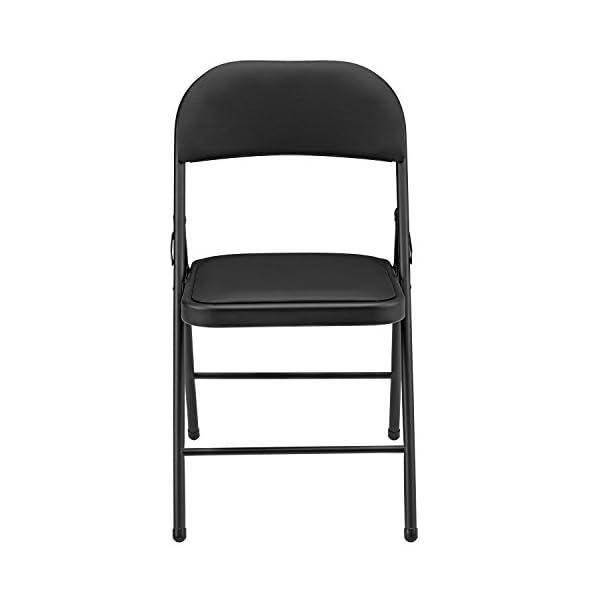 [Pro.tec] 6X chaises visiteurs (Noir – rembourrées)(en Pack économique) Chaise conférence/Chaise / Chaise de Bureau/Chaise / Salle d'attente – Chaise