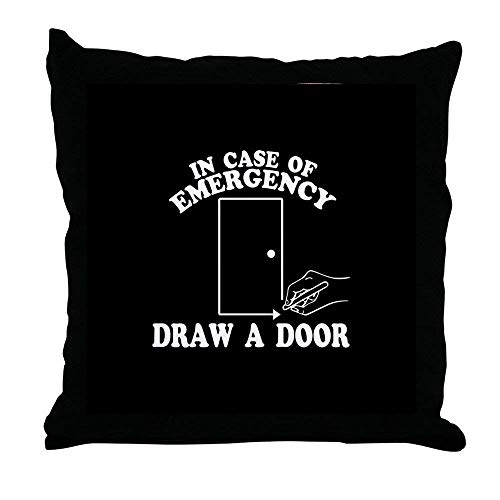 FiuFgyt Draw A Door Beetlejuice Square Home Decor Pillow Cover Canvas Accent Throw Pillow 18 x 18 -